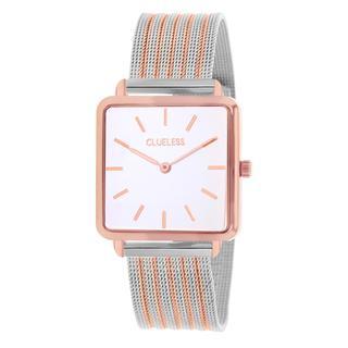 horloge met bicolor mesh band