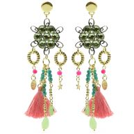 Perfect Crystal Tassel Chandeliers -  Green