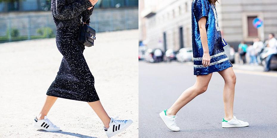 10 x witte Adidas sneakers combineren