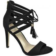 vanHaren - Ellie Goulding collection Zwarte sandalette vetersluiting