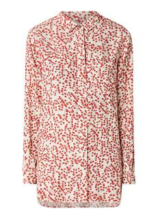 Egret blouse van crêpe met bloemendessin
