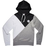 Converse Core Blocked W Hoodies hoodie zwart wit grijs zwart wit grijs