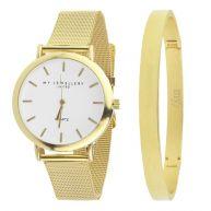 My Jewellery Limited Watch & Bangle big - Gold