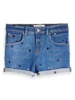 Denim Short Fitted - Positive Blauw