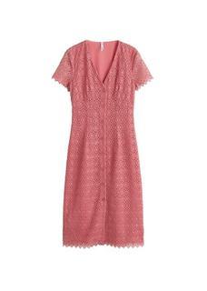 Guipure jurk met knopen
