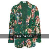 PRE-ORDER - Floral Suit Blazer - Green