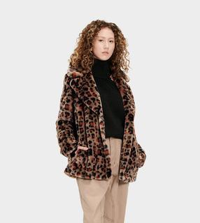 Rosemary Faux Fur Jas voor Dames in Leopard Amphora, maat S