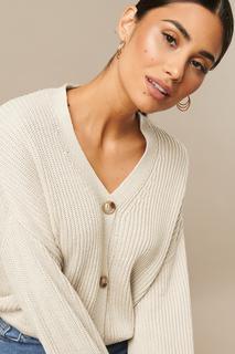 Knitted Big Sleeve Cardigan