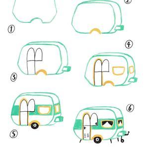 caravan tekenen