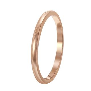 Zilveren ring roseplated