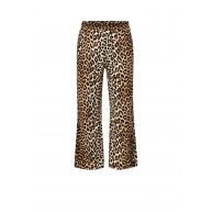 Ganni Yoshe wide fit pantalon met luipaardprint