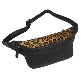 Leren Heuptas Leopard Zwart