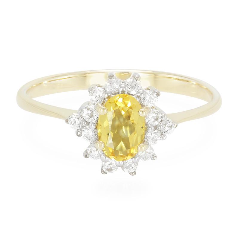 Anello D'oro Con Un Juwelo Beril Gialla RGJNg1pp6