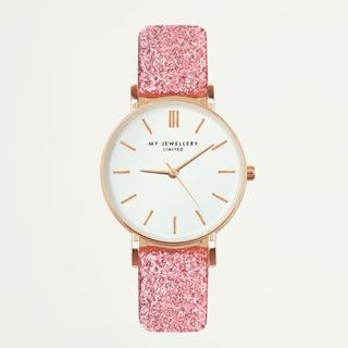 limited watch small 2.0 - pink glitter/rosegold