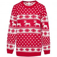 LOVIN' CHRISTMAS SWEATER RED-onesize