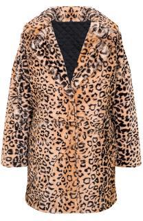 Leopard Luxury Coat Bruin