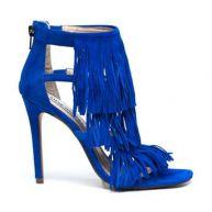Steve madden blauwe suède pumps FRINGLY