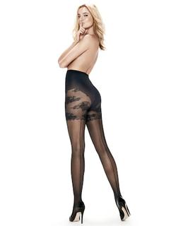 Panty 20 Denier High Backseam Zwart