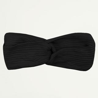 Zwarte haarband ribstof