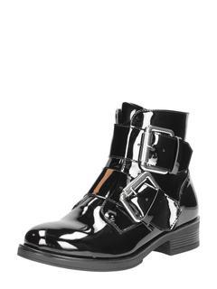 biker boots - Zwartlak