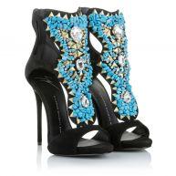 Giuseppe Zanotti Sandalen - Coline Strap Sandal Black / Turquoise in bontgekleurd voor dames