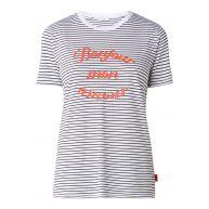Colourful Rebel Bonjour Mon Amour gestreept T-shirt