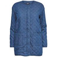 Only Lange denim Gewatteerde jas
