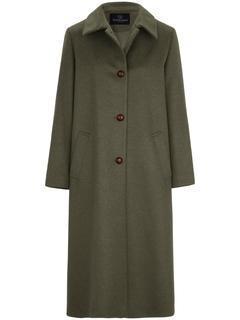 Loden jas met sliponkraag groen