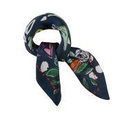 POM Amsterdam sjaal Silk Carré One In A Million Blue