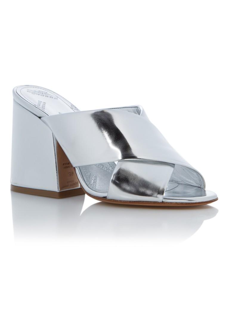Mule sandalette met metallic finish 100% Authentiek Goedkoop Online Collecties Online nieuwste Nieuwe Aankomst Goedkope Online oNK04461yu