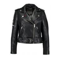 Superdry RIOT BIKER Imitatieleren jas black
