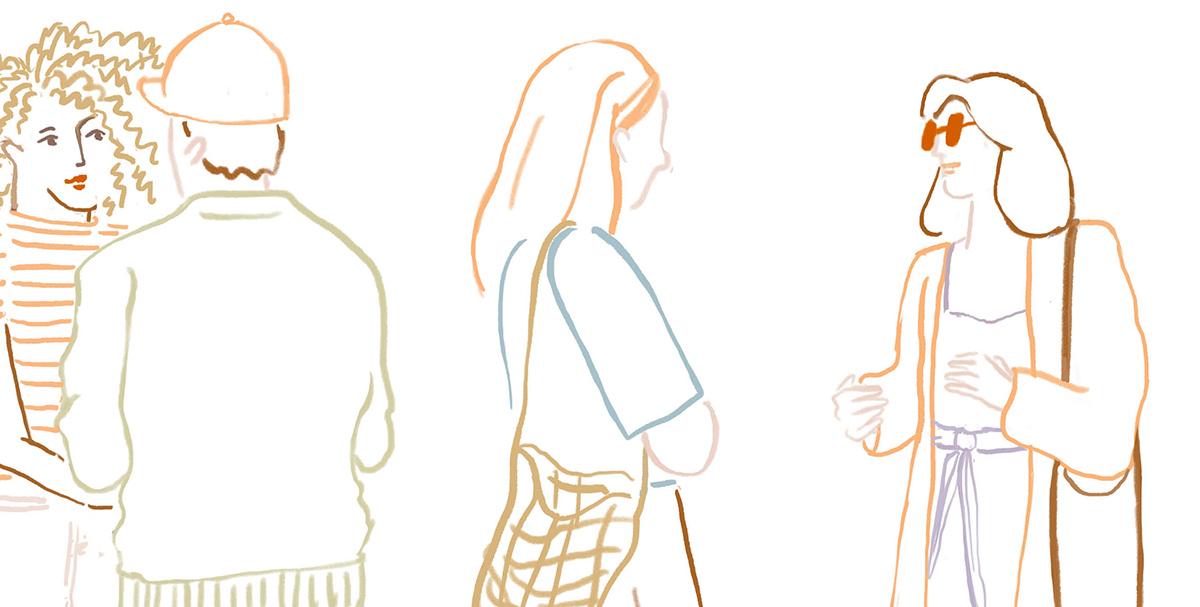praatje maken met vreemde