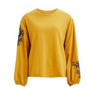 VILA Gebloemde Sweater Dames Geel