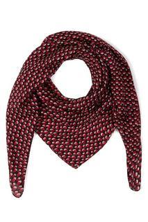 Sjaal, zijde, stippendessin - Grote Maten