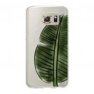 Samsung Galaxy S6 Edge Softcase hoesje transparant Mega Bananaleaf