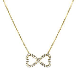 14 Karaat geelgouden ketting&hanger infinity