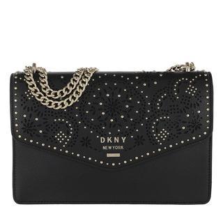 Tasche - Whitney LG Shoulder Flap Black/Gold in zwart voor dames