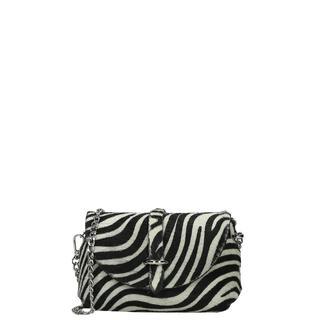 Leather Collection crossbody tas S zebra
