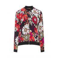 Floral print crêpe jacket
