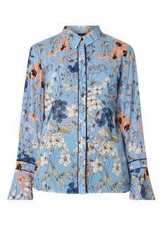 Semi-transparante blouse met bloemendessin
