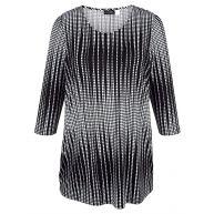 Longshirt MIAMODA zwart/wit
