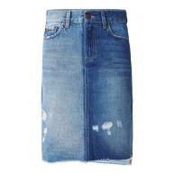 Pepe Jeans Patchy spijkerrok met destroyed details