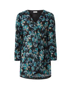 Leen mini-jurk met bloemenborduring en pailletten