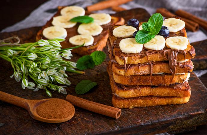 tosti met nutella en banaan