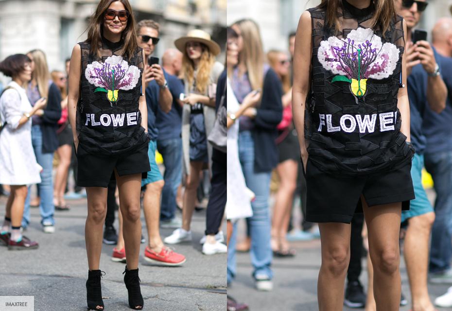 Streetstyle bloemenprint