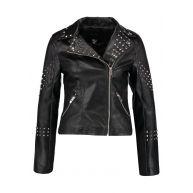 New Look STUDDED BIKER Imitatieleren jas black