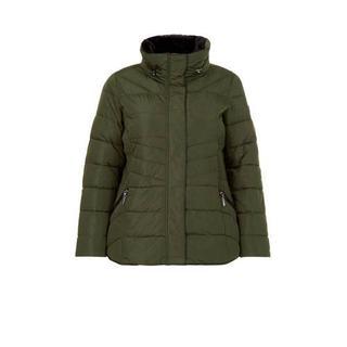 Plus gewatteerde jas groen