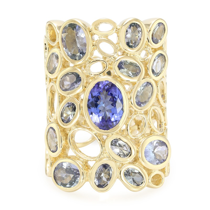 Juwelo Gouden ring met een AAA tanzaniet (Annette) manchester Te Koop Topkwaliteit Pre Order Goedkope Online Goedkope Koop Goedkope Korting Perfect HLupqefu