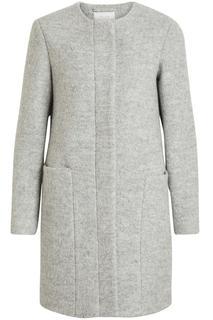 Vicoffee wool coat/pb 14047047 light grey melange grijs