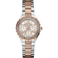 Guess W0111L4 Viva - Horloge - 35.5 mm - Zilverkleurig;Rosékleurig